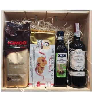 kawa kimbo wino oliwa włoskie bardolino zestaw prezent skrzynka