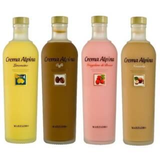 zestaw upominkowy prezentowy Likierów włoskich Crema Alpina