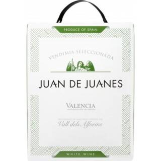 Wino hiszpańskie białe wytrawne w kartonie 3 litry juan-de-juanes--bag-in-box