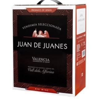 Wino hiszpańskie czerwone wytrawne w kartonie 3 litry juan-de-juanes-red-2018-bag-in-box