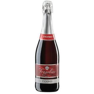 wino czerwone fragolino półsłodkie włoskie