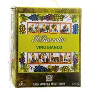 wino włoskie białe wytrawne 5L. BOX BIB IL RACCOLTO BIANCO